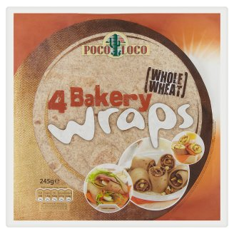 Poco Loco 4 Bakery Wraps Tortillas from Wholegrain Wheat Meal 245 g
