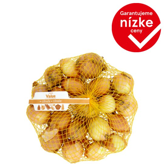Tesco Value Cibuľa žlta 1 kg