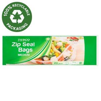 Tesco Zip Seal Bags Medium 20 pcs