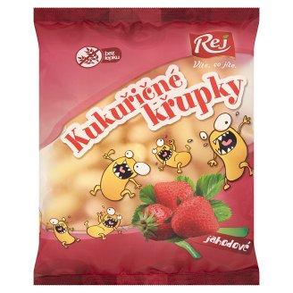 Rej Corn Puffs Strawberry 90 g