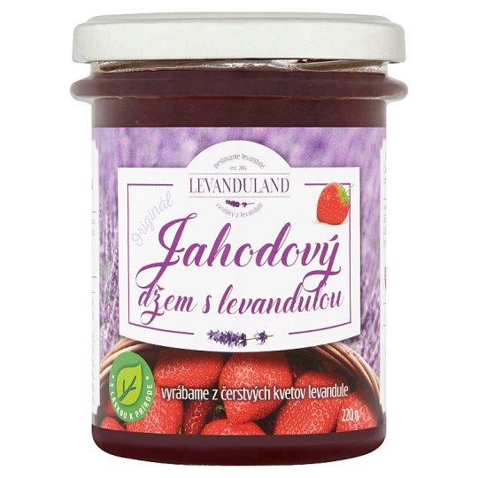 Levanduland Originál jahodový džem s levanduľou 220 g