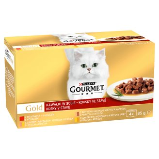 GOURMET Gold Multipack kúsky v šťave 4 x 85 g