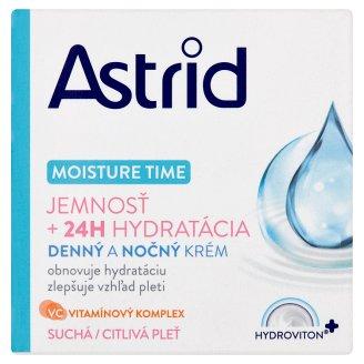Astrid Moisture Time Denný a nočný krém suchá a citlivá pleť 50 ml