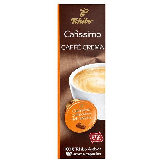 Tchibo Cafissimo Caffé Crema Rich Aroma pražená mletá káva 10 kávových kapsúl 76 g