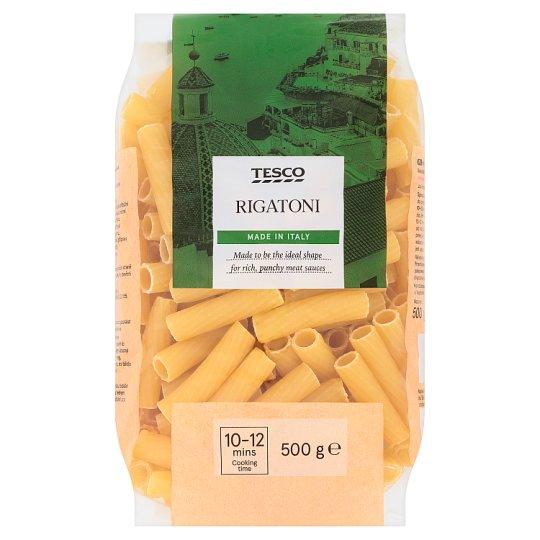 Tesco Rigatoni bezvaječné semolinové sušené cestoviny 500 g