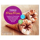 Tesco Free From Ice Cream with Vanilla and Chocolate Flavours in Corn Cachets 4 x 120 ml