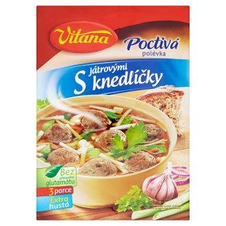 Vitana Poctivá polievka s pečeňovými knedličkami 92 g