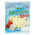 Bayernland Mozzarella Minis Unripened Soft Steamed Half-Fat Cheese 100 g