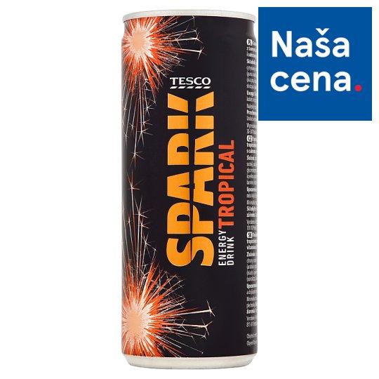 Tesco Spark Energy Drink Tropical 250 ml