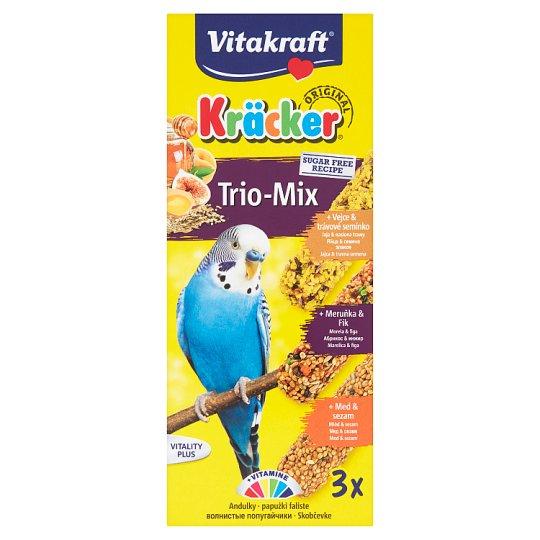 Vitakraft Kräcker Trio-Mix zmiešané krmivo pre andulky 3 ks 80 g