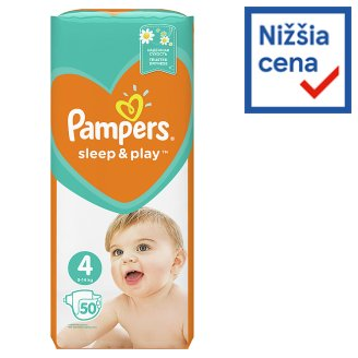 Pampers Sleep & Play, Size 4, 50 Diapers, 9-14 kg