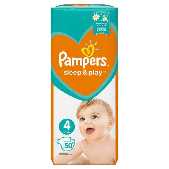 Pampers Sleep & Play, V4, 50 Plienok, 9-14 kg, Pocit Sucha