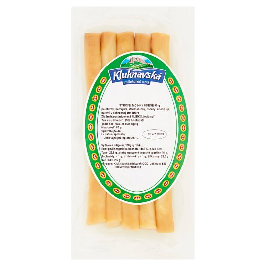 Kluknavská Mliekareň Smoked Cheese Sticks 80 g