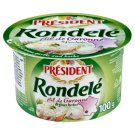 President Rondelé Fluffy Curd Cheese with Garlic from Garonne and Herbs 100 g