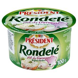 Président Rondelé ail de Garonne syr s cesnakom a bylinkami 100 g