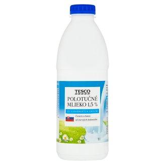 Tesco Polotučné mlieko 1,5 % 1 l