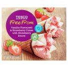 Tesco Free From Lactose Free Ice Cream with Strawberry and Vanilla Flavoured 4 x 120 ml