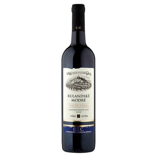 Víno Nitra Selection Rulandské modré slovenské akostné odrodové víno červené suché 0,75 l