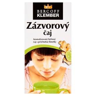 Bercoff Klember Wellness Zázvorový čaj bylinný s príchuťou limetky 20 x 2 g