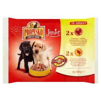 Propesko Kompletné krmivo pre šteňatá 4 x 100 g