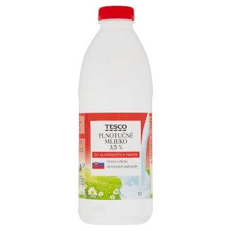 Tesco Plnotučné mlieko 3,5 % 1 l