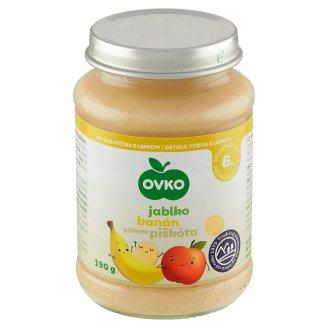 Ovko Dojčenská výživa jablková s banánmi a piškótami 190 g