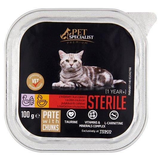 Tesco Pet Specialist Premium Sterile paštéta s morčacinou a kuracinou 100 g