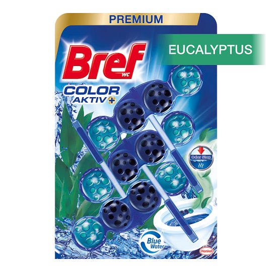 Bref Color Aktiv Eucalyptus Solid Toilet Block 3 x 50 g