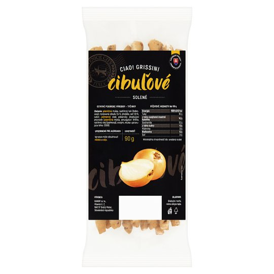 Ciao Grissini Onion Salted 90 g