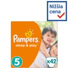 Pampers Sleep & Play Size 5, 42 Nappies, 11-23kg, Simply Dry