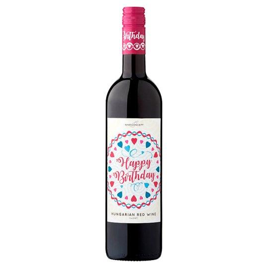 Wine Concept Happy Birthday Medina z horného Maďarska sladké červené víno 0,75 l