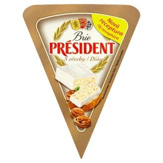 Président Brie mäkký vysokotučný zrejúci syr s bielou plesňou na povrchu s orechami 125 g