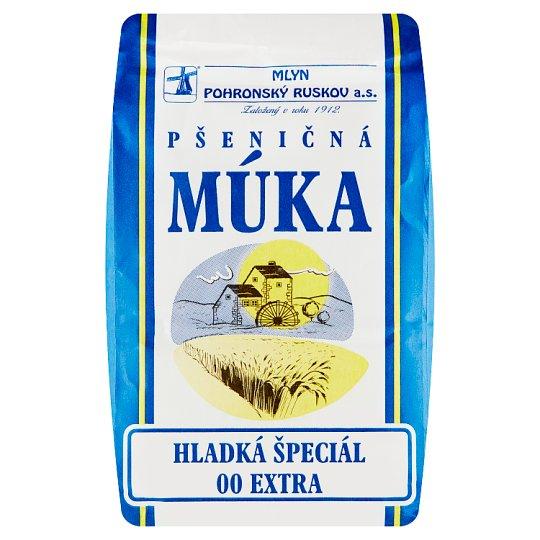 Mlyn Pohronský Ruskov Pšeničná múka hladká špeciál 00 Extra 1 kg