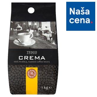 Tesco Crema pražená zrnková káva 100% Arabica 1 kg