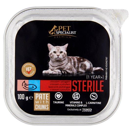 Tesco Pet Specialist Premium Sterile paštéta s lososom a pstruhom 100 g