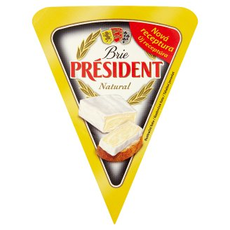 Président Brie Natural Soft Ripened Full Fat Cheese 125 g
