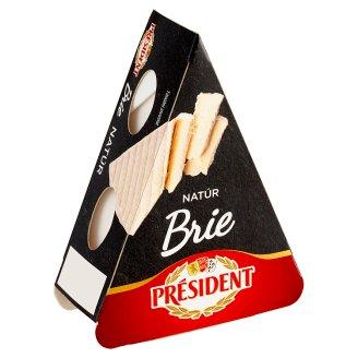Président Brie natural mäkký vysokotučný zrejúci syr s bielou plesňou na povrchu 125 g