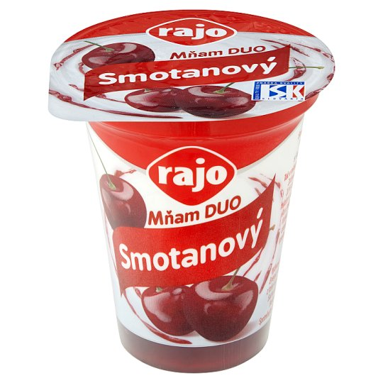Rajo Mňam Duo Creamy Yogurt Sour Cherry with Pieces of Sour Cherry 145 g