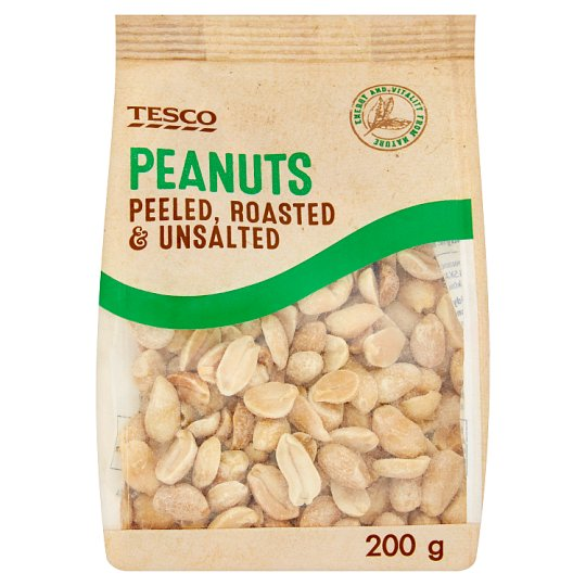 Tesco Peanuts Peeled, Roasted & Unsalted 200 g