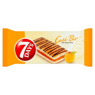 7 Days Cake Bar Vanilla Mini Incision Filled with Apricot Filling 30 g