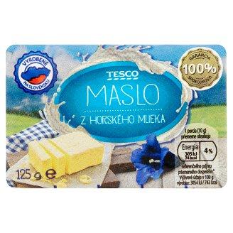 Tesco Maslo z horského mlieka 125 g