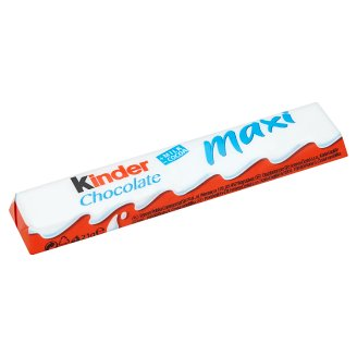 Kinder Chocolate maxi tyčinky z mliečnej čokolády s mliečnou náplňou 21 g
