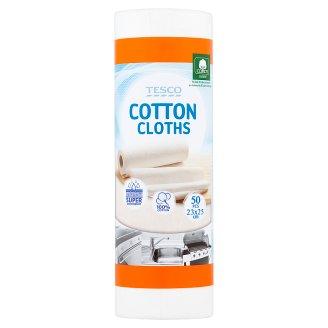 Tesco Cotton Cloths 23 x 25 cm 50 pcs
