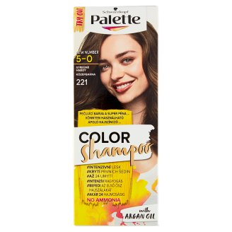 Schwarzkopf Palette Color Shampoo farba na vlasy Strednehnedý 5-0 (221)