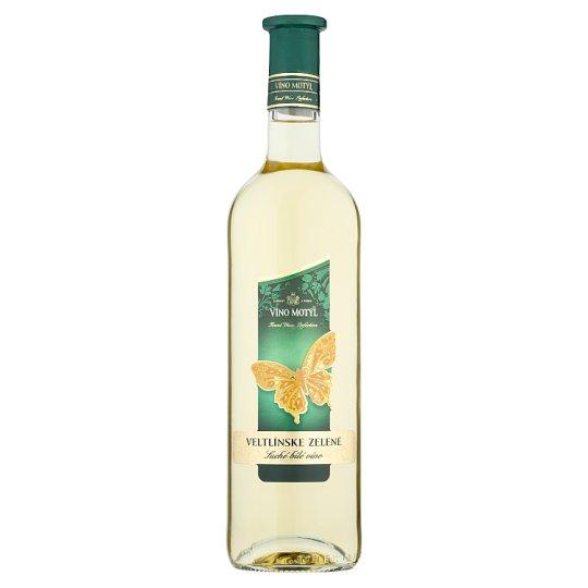 Víno Motýl Veltlinské zelené víno biele suché 0,75 l