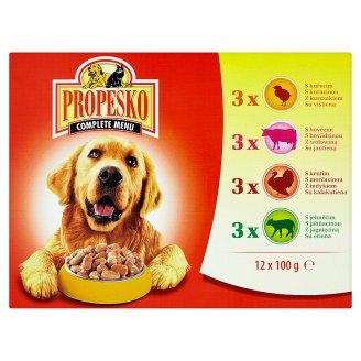 Propesko Kompletné krmivo pre dospelých psov všetkých plemien 12 x 100 g
