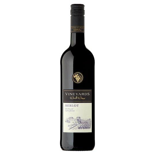 Vineyards World Wines Merlot červené víno suché 750 ml