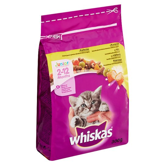 Whiskas Junior Complete Food for Kittens with Chicken Meat 2-12 Months 300 g