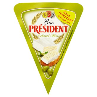 Président Brie Soft-Ripened Cheese with Olives 125 g