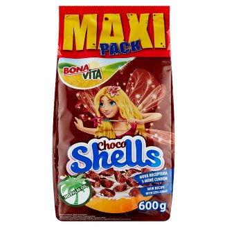 Bona Vita Choco Shells obilné mušličky s kakaom 600 g